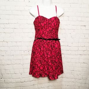 NWT Lilly Rose mini lace dress with belt